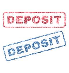 Deposit textile stamps vector