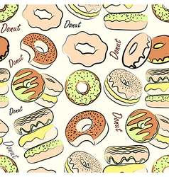donut seamless vector image