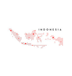 Dotted indonesia map logo design inspiration vector