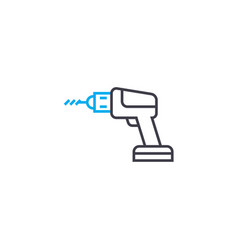 electric screwdriver thin line stroke icon vector image
