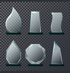Empty glassware trophy or sport award vector