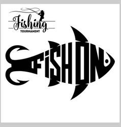fishing logo - stock vector image