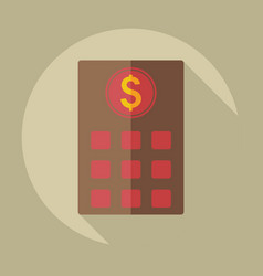 Flat modern design with shadow icons bank building vector
