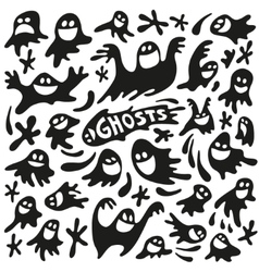 Funny ghosts vector