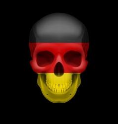 German flag skull vector