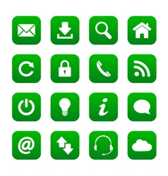 Green web buttons vector image