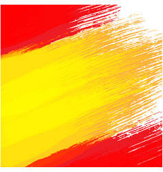 grunge background in colors of spanish flag vector image