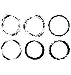 Grunge circles vector