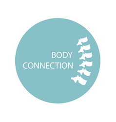 health care abstract growing spine bone - body vector image