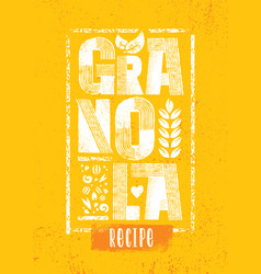 healthy vegan snack granola cereal vector image