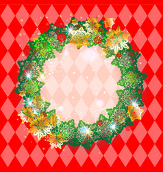 Holiday red frame vector