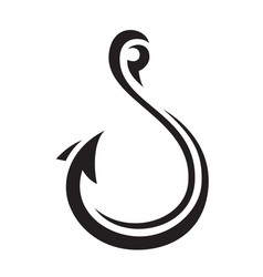 hook icon vector image