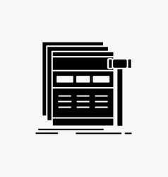 Internet page web webpage wireframe glyph icon vector