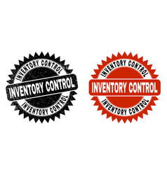 Inventory control black rosette seal with rubber vector