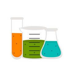 Isolated chemistry class icon vector