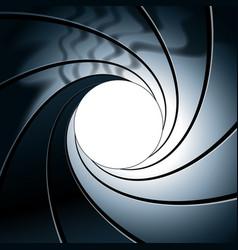 James bond style gun barrel rifling vector