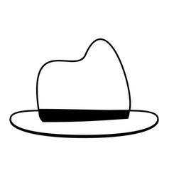 Masculine hat icon image vector