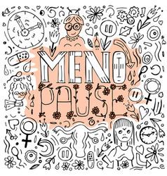 Menopause doodles image vector