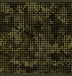 military camouflage seamless pattern autumn vector image