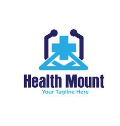 mount health logo designs vector image