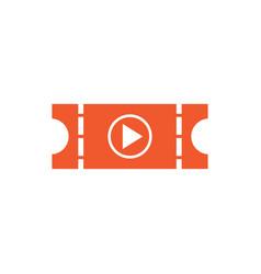 movie ticket graphic icon design template vector image