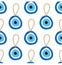 Nazar amulet blue evil eye talisman pattern vector