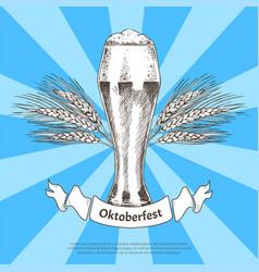 Oktoberfest german world event colorful banner vector
