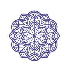 Outlined mandala for coloring vector