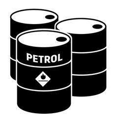 Petrol barrels icon simple style vector