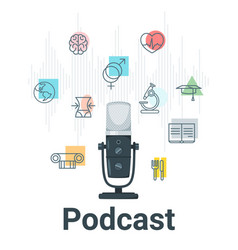 podcast flat vector image