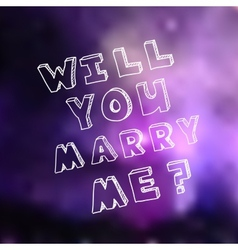 Poster template for marriage proposal design vector image
