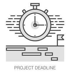 Project deadline line infographic vector