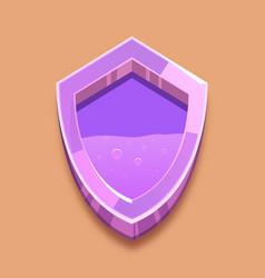 Purple shield with violent liquid antivirus vector