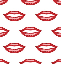 Red lips with highlights vector