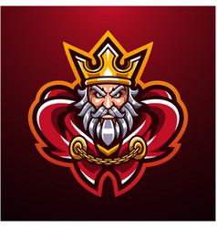 royal king head mascot logo vector image