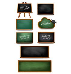 set chalkboards and schoolboards vector image