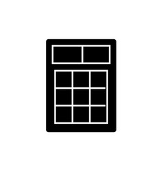 simple calculator icon black vector image