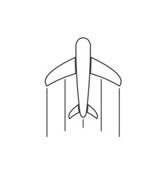 Simple cute airplane thin line art symbol icon vector