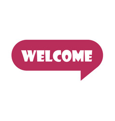 slang bubbles welcome text over white background vector image