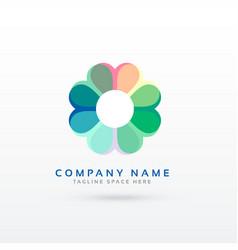 soft flower style logo design concept vector image