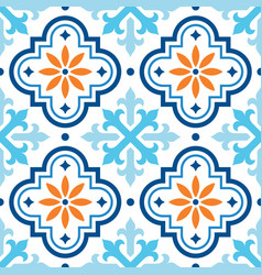 Spanish tile pattern moroccan tiles seamless vector