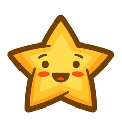 star in cartoon style cute funny vector image
