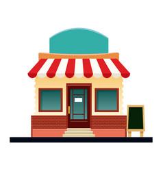 store market business shop building vector image vector image