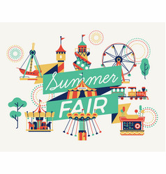 summer fair banner or poster template vector image