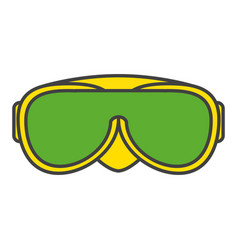 Swimming googles isolated icon vector