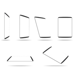 Tablet computer with blank white screen vector