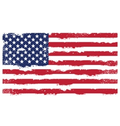 Threadbare flag of United States of America vector