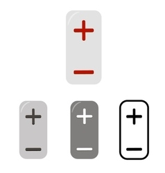 Vertical buttons with plus and minus icons vector