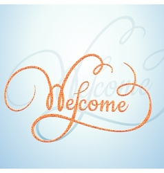 Welcome calligraphic text with a rope texture vector image