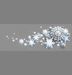 winter snow wave vector image